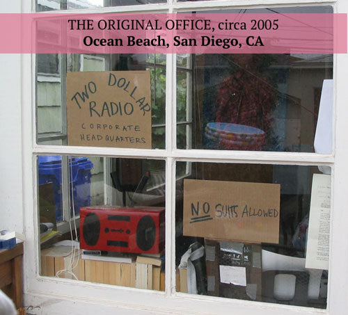 Two Dollar Radio original start-up San Diego office circa 2005