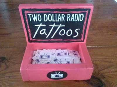 Two Dollar Radio Temporary Tattoos