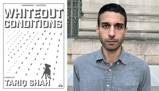 Tariq Shah with his debut novel Whiteout Conditions