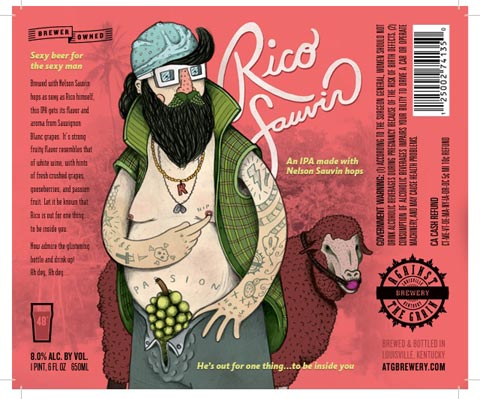 Against the Grain Brewery's Rico Sauvin Double IPA