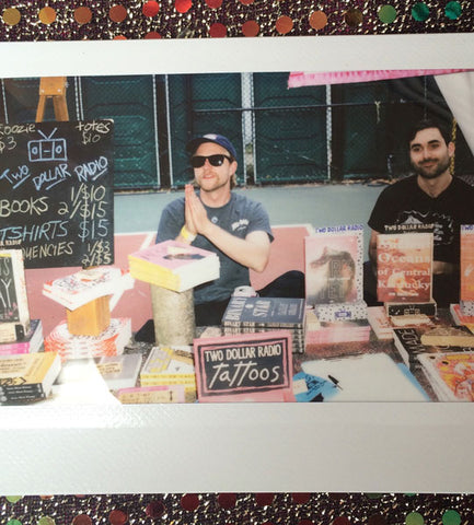 Brett and Tom at the Two Dollar Radio booth at Pitchfork 2016