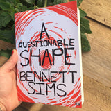 A Questionable Shape by Bennett Sims being held