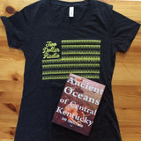 Ancient Oceans of Central Kentucky book with Two Dollar Radio shirt