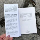 Whiteout Conditions by Tariq Shah silver foil front flap cover