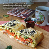 Two Dollar Radio Guide to Vegan Cooking by Jean-Claude van Randy, Speed Dog, with Eric Obenauf (Two Dollar Radio, 2020), Carrot Lox Wrap