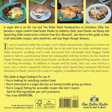 Two Dollar Radio Guide to Vegan Cooking by Jean-Claude van Randy, Speed Dog, with Eric Obenauf (Two Dollar Radio, 2020) back cover