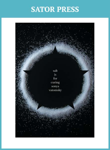 Sonya Vatomsky poems Salt Is for Curing