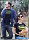 Two Dollar Radio 2015 flag shirt on Eric and Eliza
