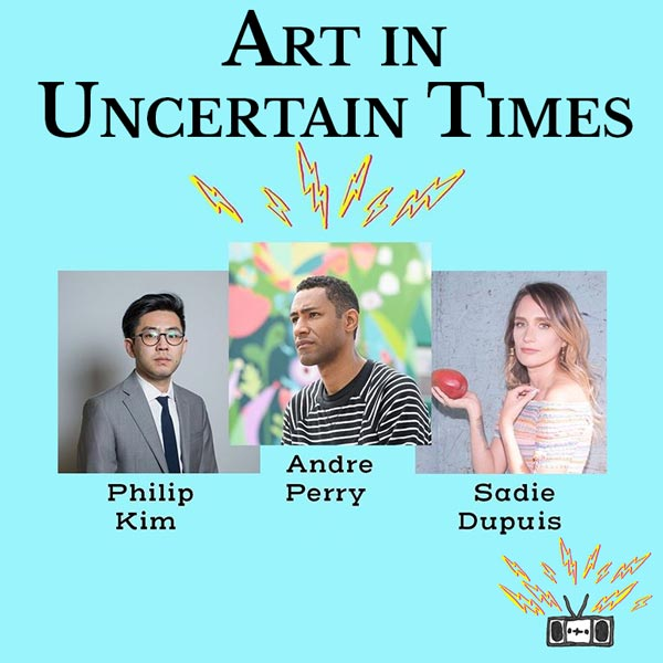 Two Dollar Radio Radio virtual event: Art in Uncertain Times: Andre Perry, Phil Kim, Sadie Dupuis