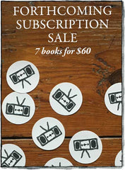Forthcoming Subscription sale from indie press Two Dollar Radio