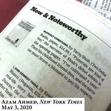 "Whiteout Conditions by Tariq Shah covered by Azam Ahmed, New York Times ""Recent Books of Interest"" -- May 3, 2020"