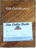 Two Dollar Radio gift certificate card sale