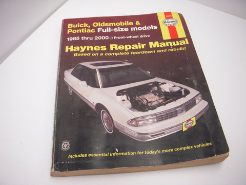 ISBN 1-56392-387-4 Haynes Olds Delta 88 98 Bonniville 1985-00 Ft Wheel Drive Manual