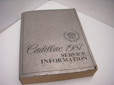 Factory 1981 Cadillac Service Information Manual