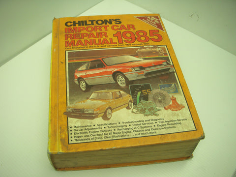 ISBN 0-8019-7473-9 Chilton 1978-85 Import Car Audi Mazda Renault Manual
