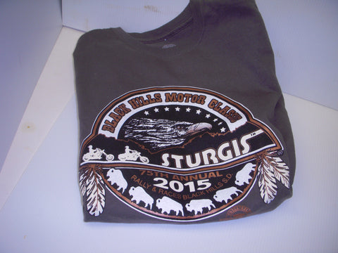 Medium dark Gray T-Shirt Sturgis Black Hills Classic Buffalo 75th annual 2015
