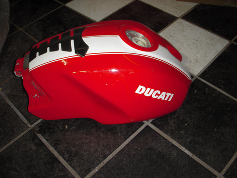 2005-08 Ducati S2R 800-1000 07-08 695 Monster Red White Tank