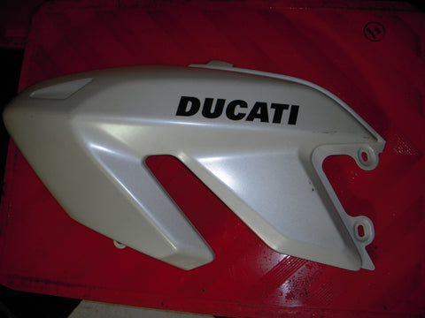 2008-09 Ducati Hypermotard 1100 Left Upper Fairing Pearl White Used