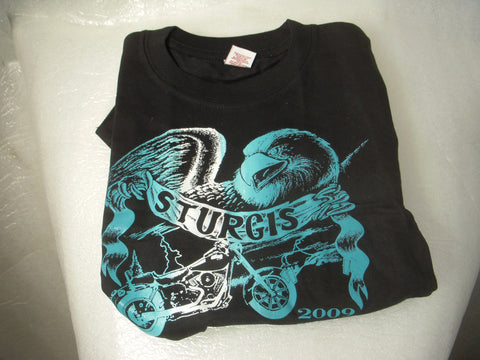 24 Month Kids Black with teal Bike T-Shirt Promotion Sturgis 2009 New