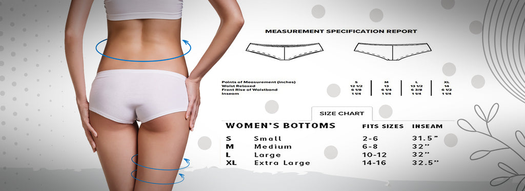 Booty Short Sizing Chart
