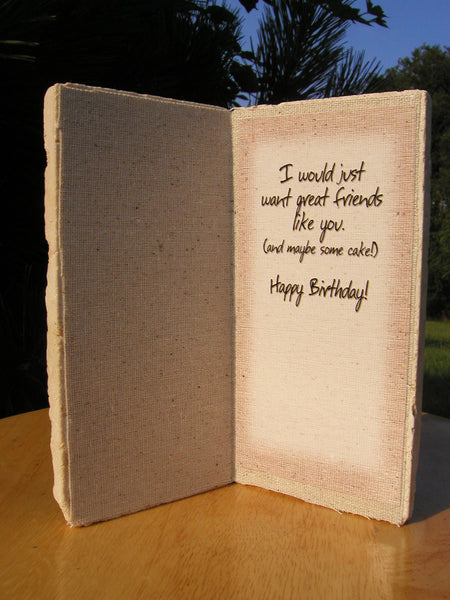#407 - Benjamin Franklin Birthday Card made with Marble and 1 oz. Fine Copper!