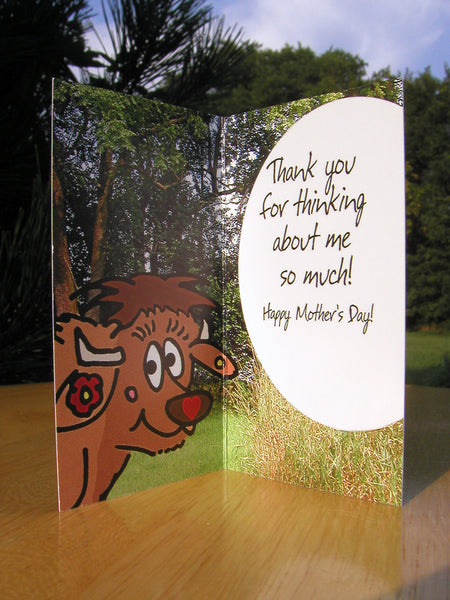 #103 - Mother's Day greeting card with a 1/10 oz. silver coin and a bison mother! Includes envelope for mailing and descriptive postcard.