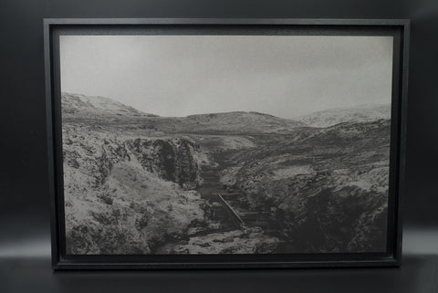 At Dark in the West Fjords 1, pigment print, Alu Dibond, American Box