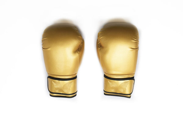 Gold boxing gloves, women's gold boxing gloves, women's funky boxing gloves, women's martial arts gloves