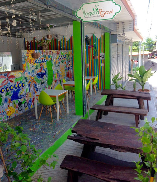 Vegetarian Cafe on Koh Tao island, Thailand