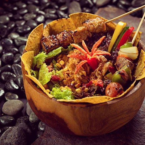 pulled jackfruit salad in kismet ubud