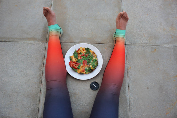 ombre look yoga leggings made in the uk