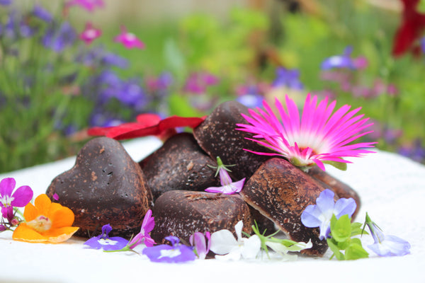 healthy simple recipe chocolate treats & chocolate hearts made with coconut oil & carob powder