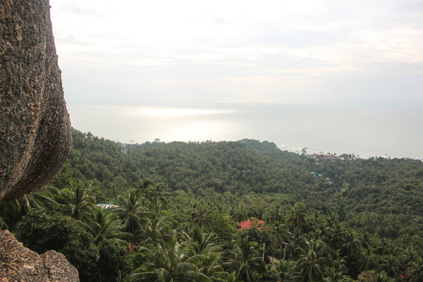View from Overlap stone on Koh Samui, the best hiking trails on Koh Samui