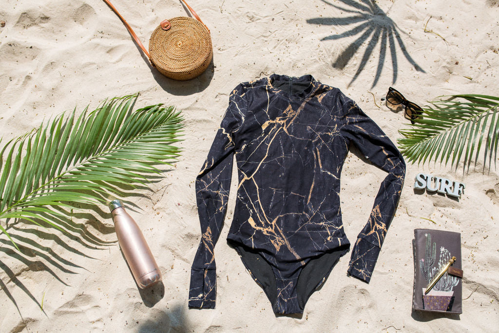 eco friendly rash guard for women UK