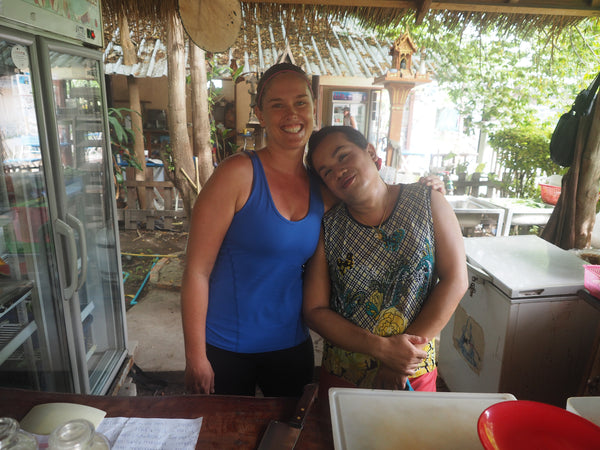 The owner of Living Juices Koh Tao