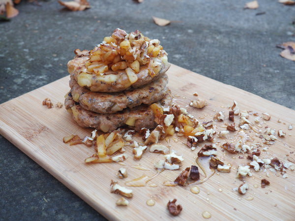 vegan recipe with apples and wholemeal flour