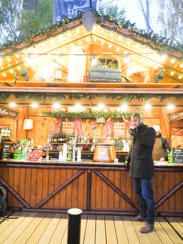 Christmas fair market in London