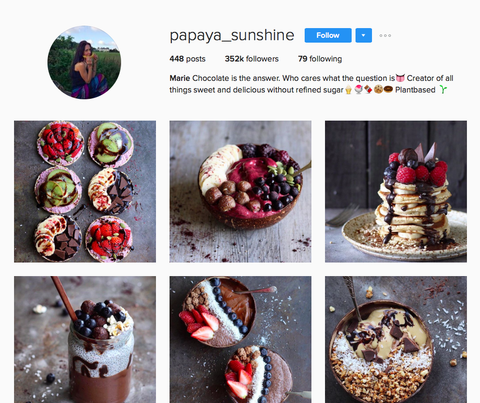 @papaya_sunshine instagram account