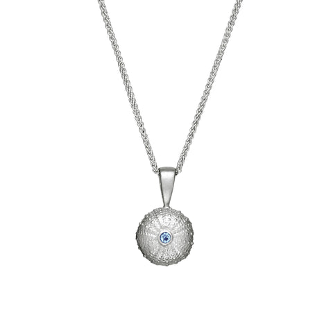 sea urchin silver necklace