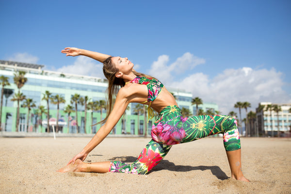 tropical leggings, eco friendly tropical leggings, eco leggings uk