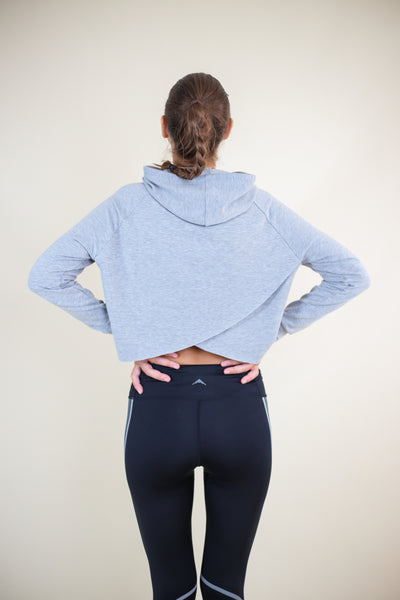 Cross-Back Cropped Hoodie - My Mantra