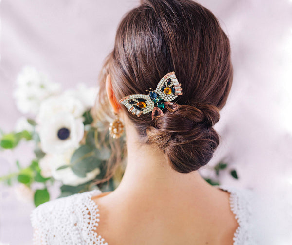 How To Wear Our Butterfly Brooch On Your Wedding Day