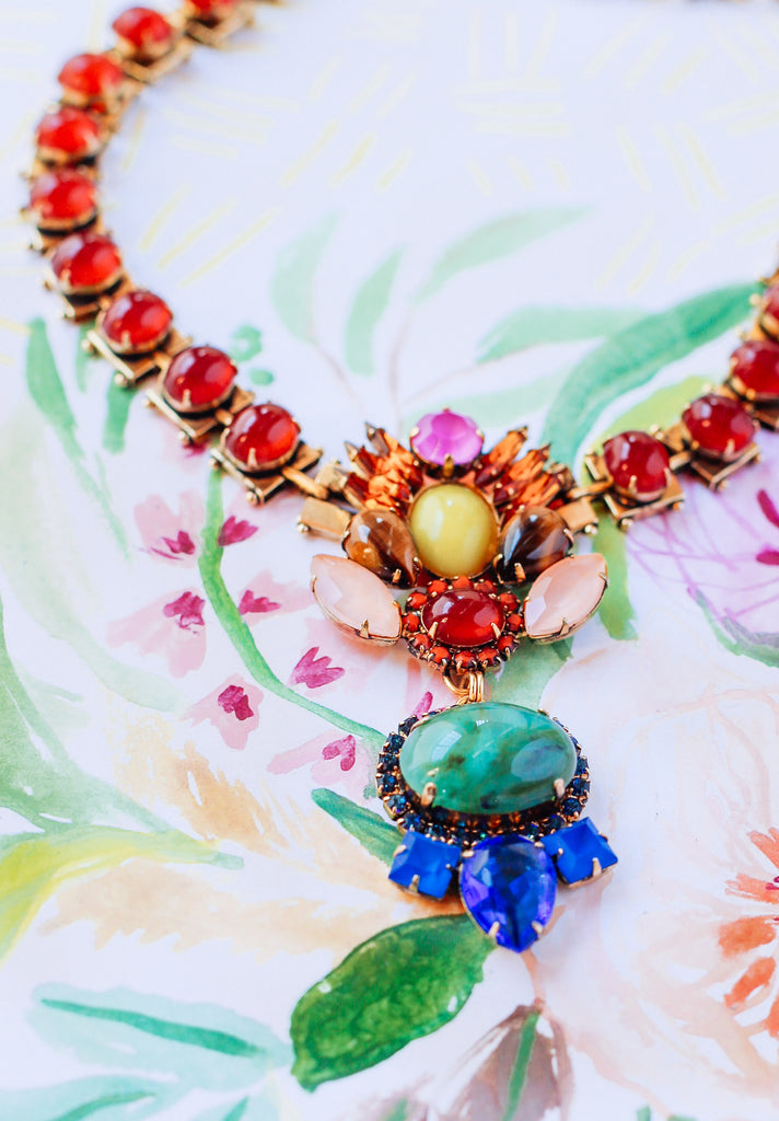 "Loren Hope Studio Series ""Flowers for June"" Necklace with Lulie Wallace"