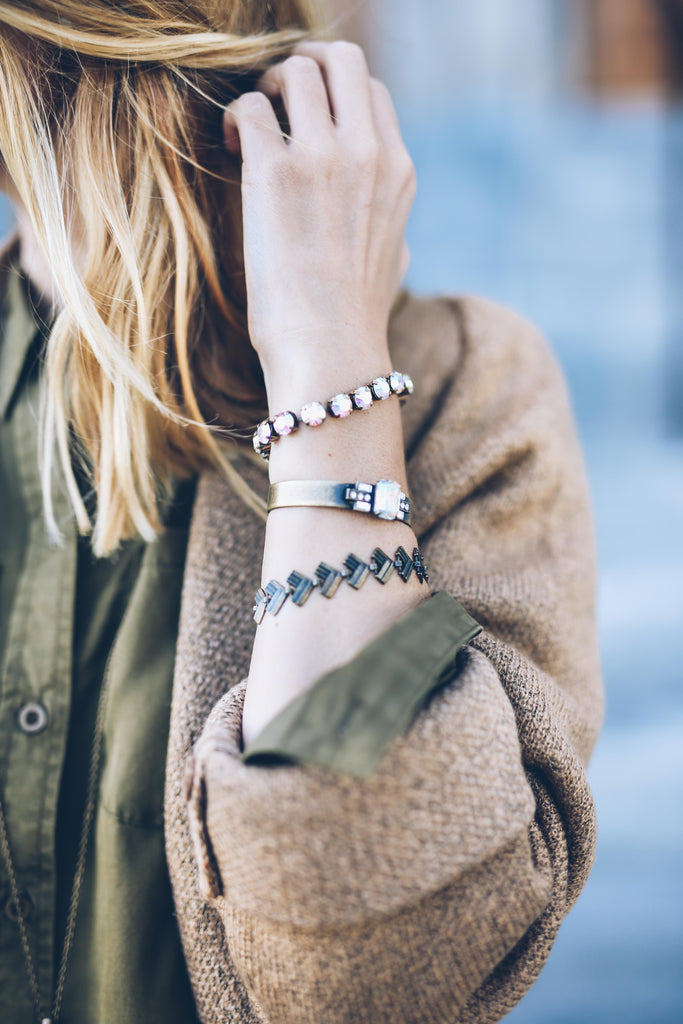 loren hope alex mini cuff, loren hope arista bracelet, fall neutrals