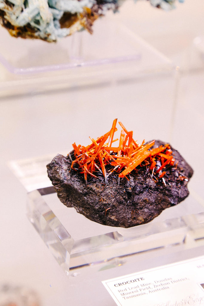 Geometric, showcase, crocoite