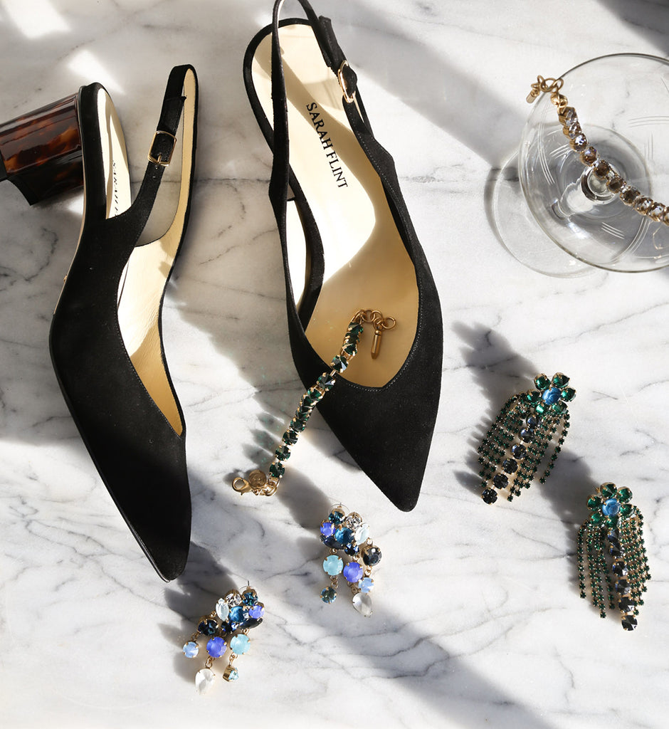 Sarah Flint shoes, Sarah Flint Emma pump, Loren Hope jewelry