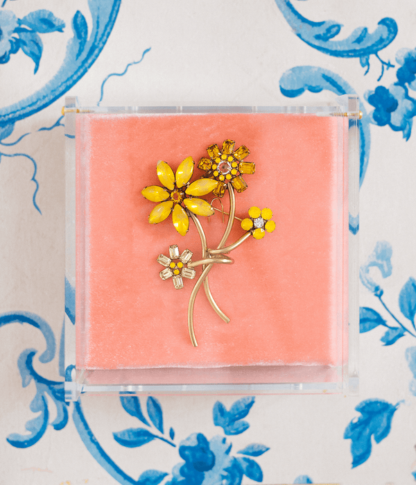Marigold Flower Brooch
