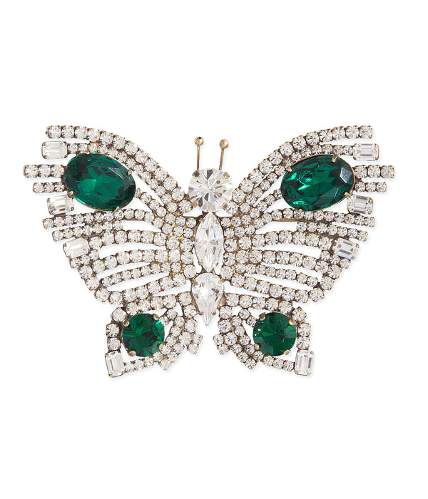 Extra Large Butterfly in Crystal / Emerald