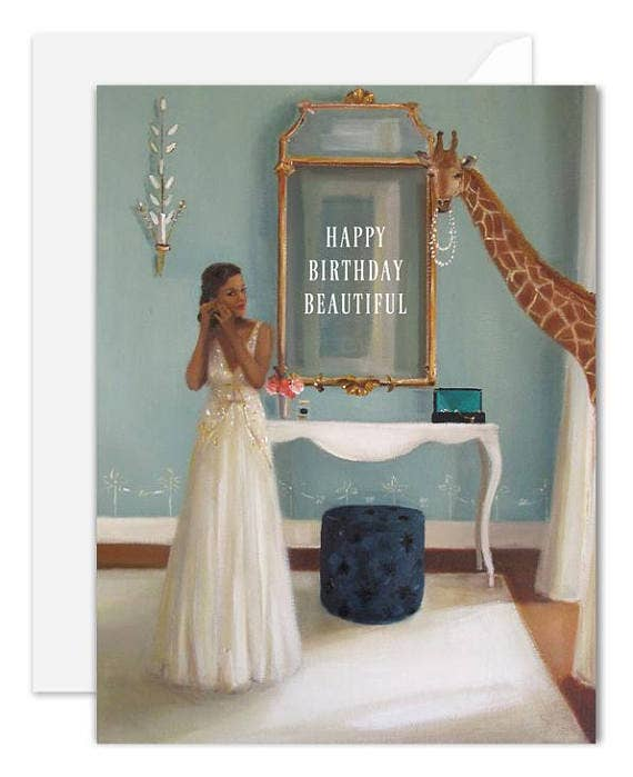 Janet Hill Studio - Happy Birthday Beautiful Card