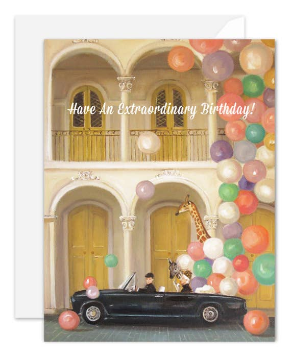 Janet Hill Studio - Old Town Birthday Card